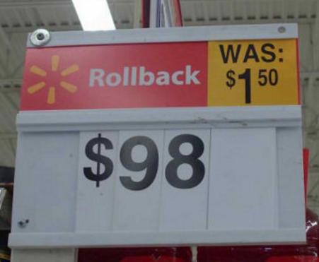 Walmart Signage Mistake