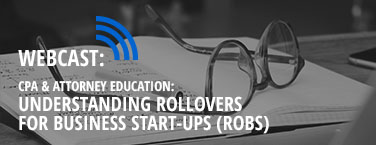 CPA and Attorney Education - Understanding Rollover for Business Start-ups (ROBS)