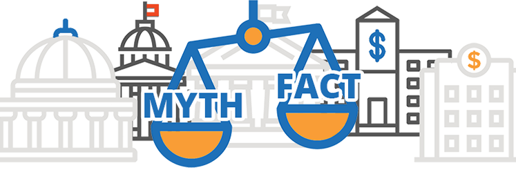 scales weighing common SBA myths and facts
