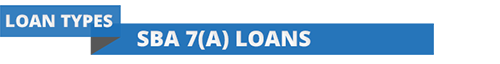 Section header for SBA 7(a) Loans