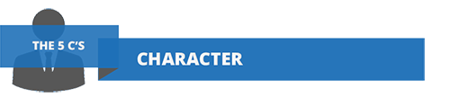 Character: one of the five C's