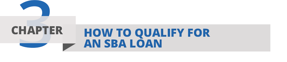 Chapter Three: The five c's of SBA Loan eligbility