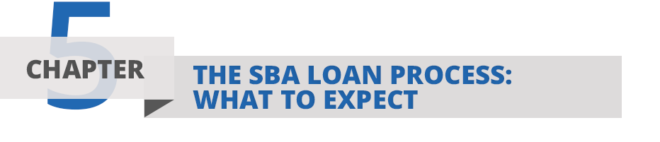 Chapter Five: The SBA Loan Process; what to expect