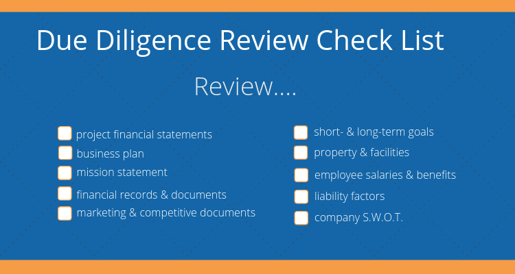 checkboxes on more due diligence you should do before purchasing a business