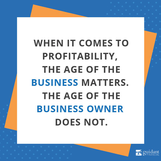 When it comes to profitability the key factor is the age of the business not the owner