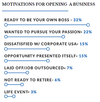chart of the top motivations for boomers in business