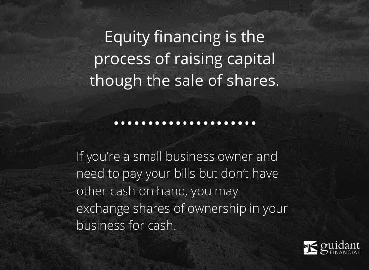 The definition of equity financing - and a piece of advice on how you can use it